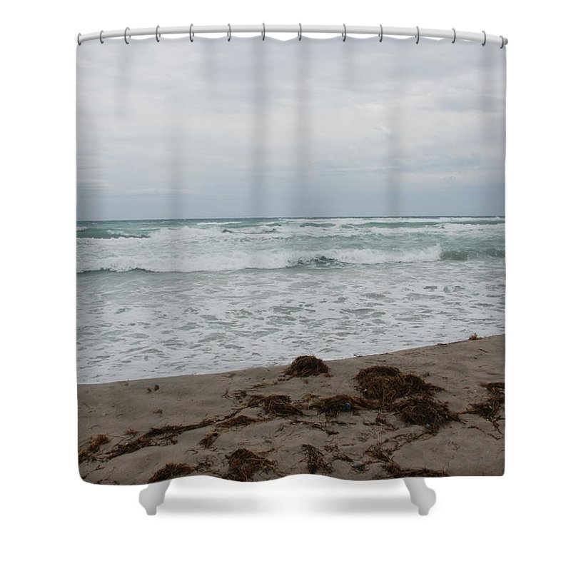 Water Shower Curtain featuring the photograph The Cold Sea by Rob Hans
