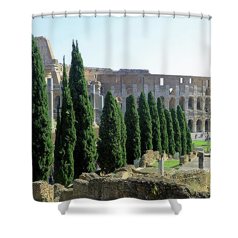 Coliseum Shower Curtain featuring the photograph The Coliseum by Tony Murtagh