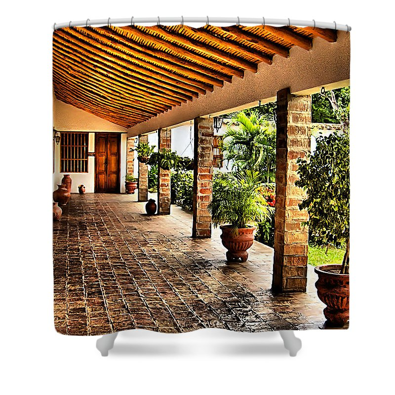 House Shower Curtain featuring the photograph The Colonial House by Galeria Trompiz