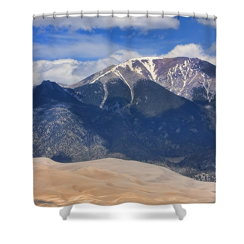the Great Colorado Sand Dunes Shower Curtain featuring the photograph The Colorado Great Sand Dunes 125 by James BO Insogna