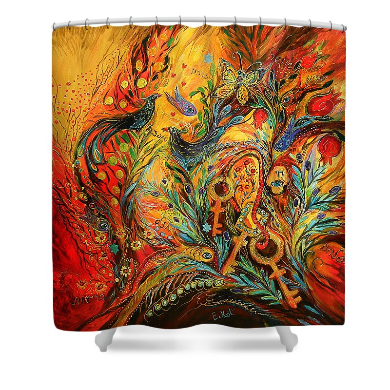 Original Shower Curtain featuring the painting The Colors Of Sunrise by Elena Kotliarker