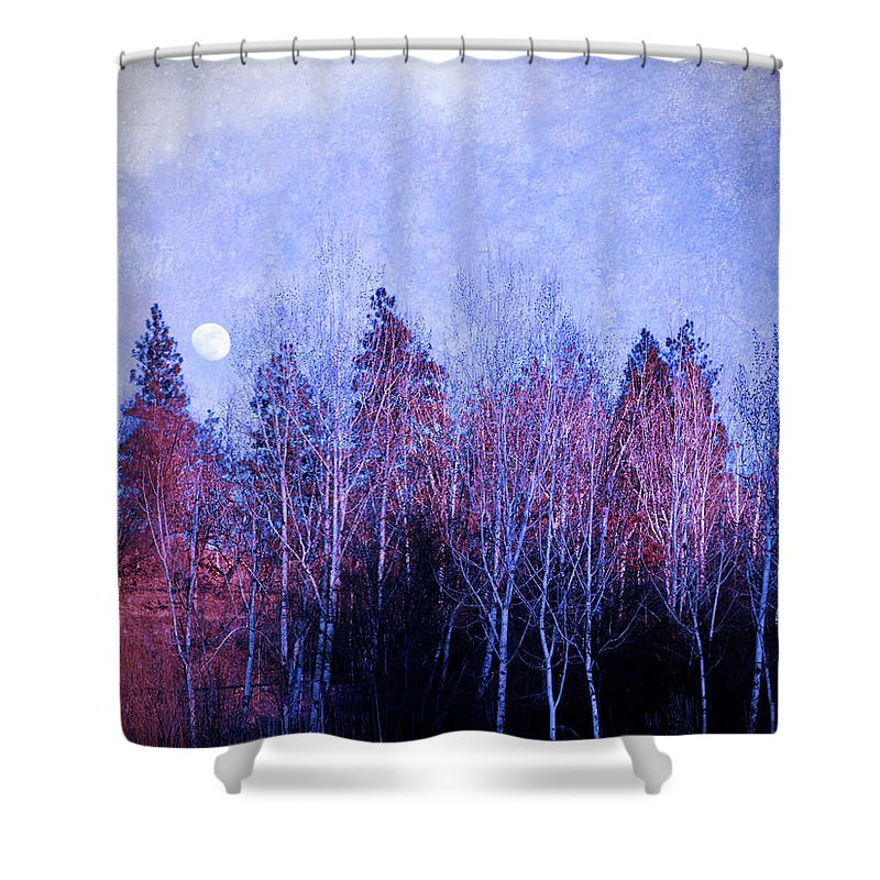 Moon Shower Curtain featuring the photograph The Colours Of The Moon by Tara Turner