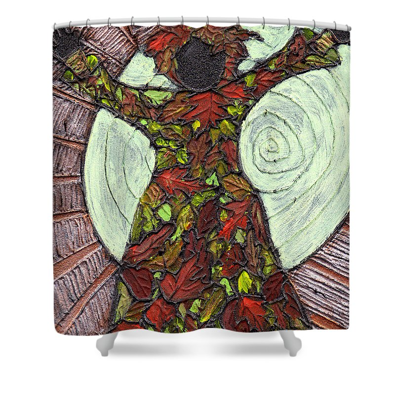 Autumn Shower Curtain featuring the painting The Coming Of Autumn by Wayne Potrafka