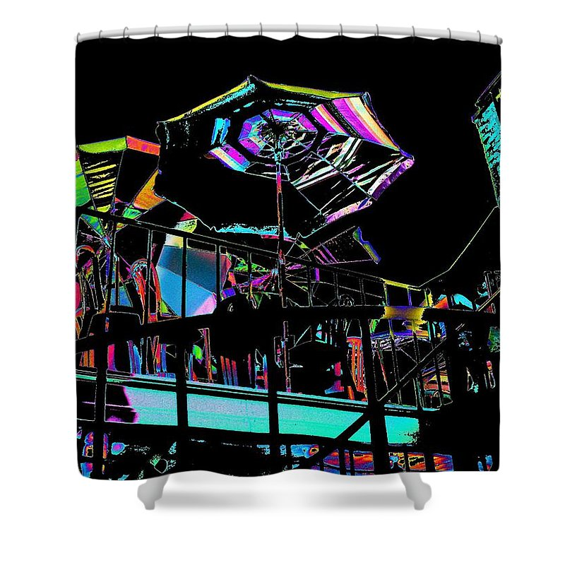 Seattle Shower Curtain featuring the digital art The Copacabana by Tim Allen