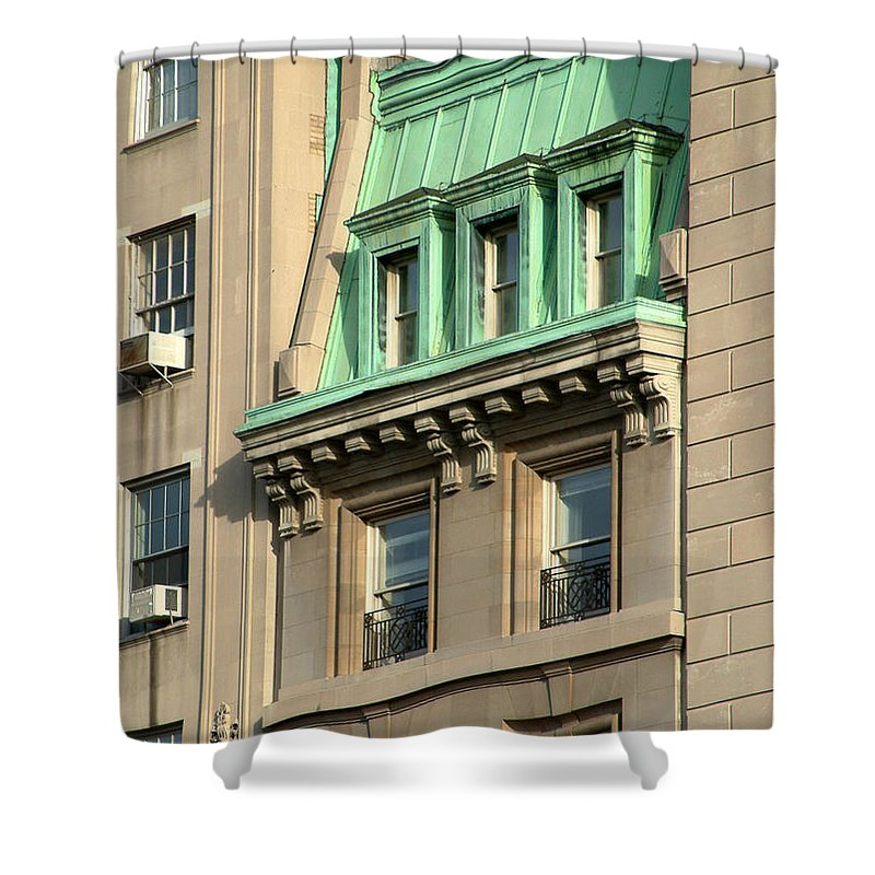 Apartments Shower Curtain featuring the photograph The Copper Attic by RC DeWinter