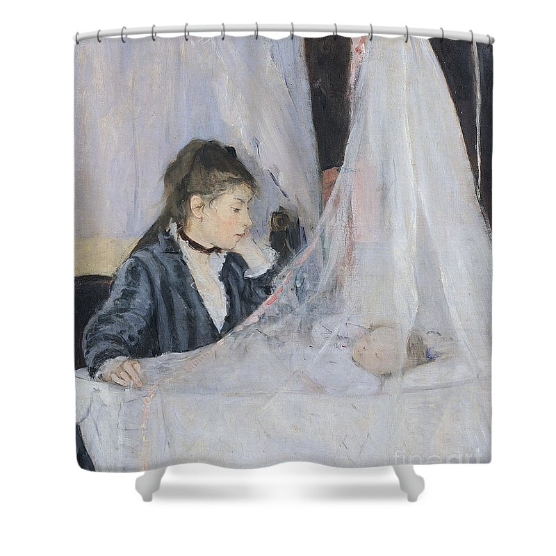 Mother Shower Curtain featuring the painting The Cradle by Berthe Morisot