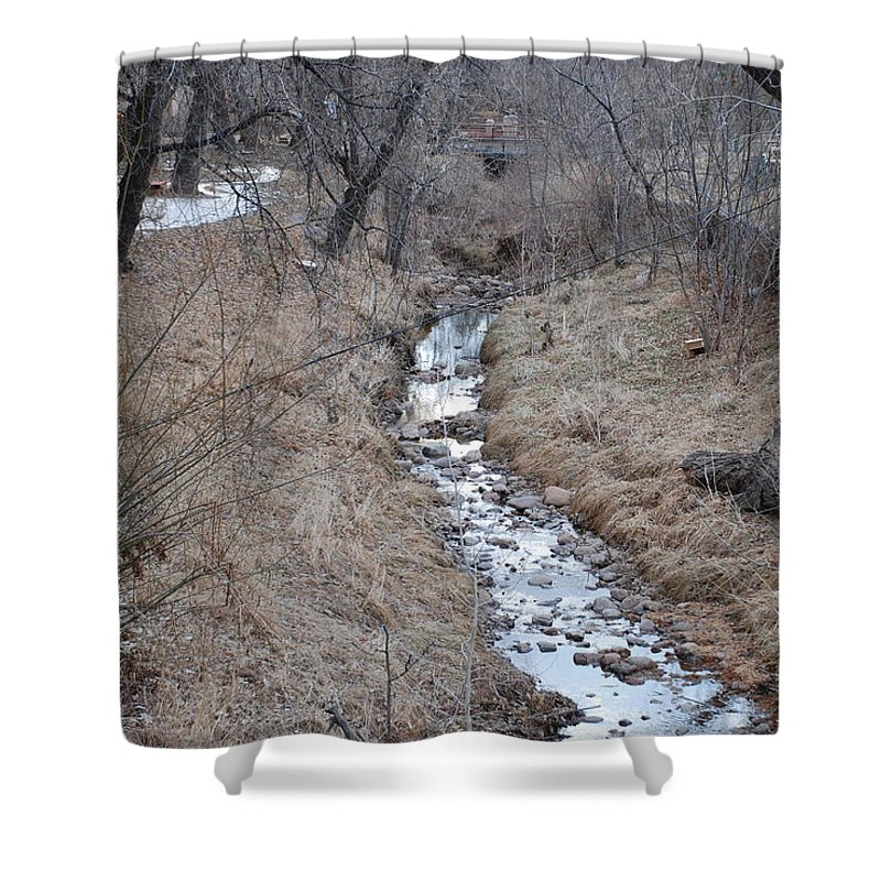Water Shower Curtain featuring the photograph The Creek by Rob Hans