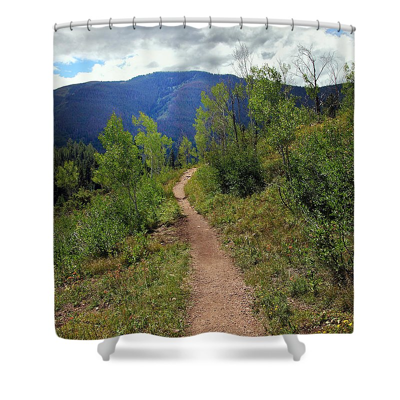 Path Shower Curtain featuring the photograph The Crooked Path by Madeline Ellis