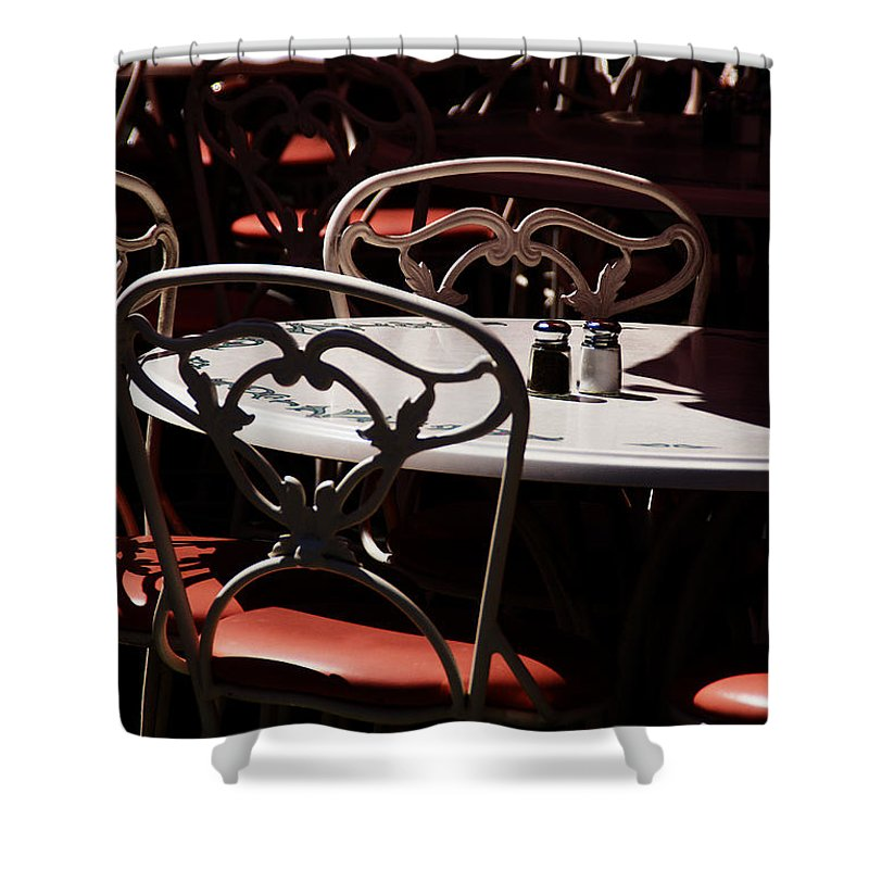 Chairs Shower Curtain featuring the photograph The Crucial Element by Linda Shafer