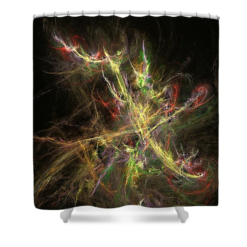 Abstract Digital Photo Shower Curtain featuring the digital art The Dance 1 by David Lane