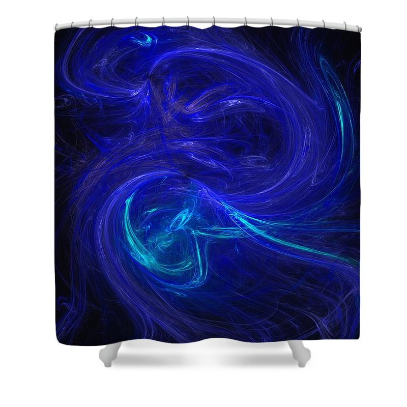 Abstract Digital Photo Shower Curtain featuring the digital art The Dance 2 by David Lane