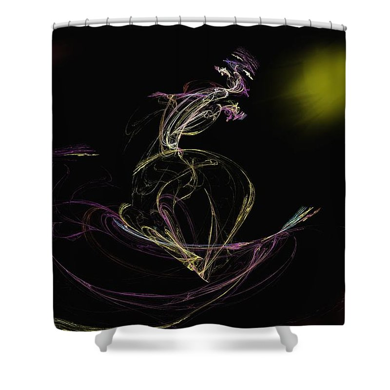 Abstract Digital Photo Shower Curtain featuring the digital art The Dance by David Lane
