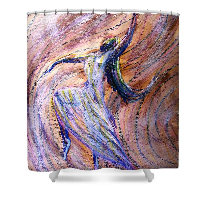 Dance Shower Curtain featuring the painting The Dance by Patricia L Davidson