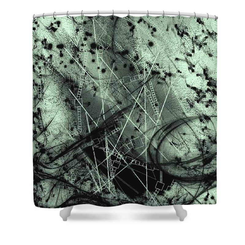 The Dark Age Shower Curtain featuring the digital art The Dark Age by Shubham Kumar