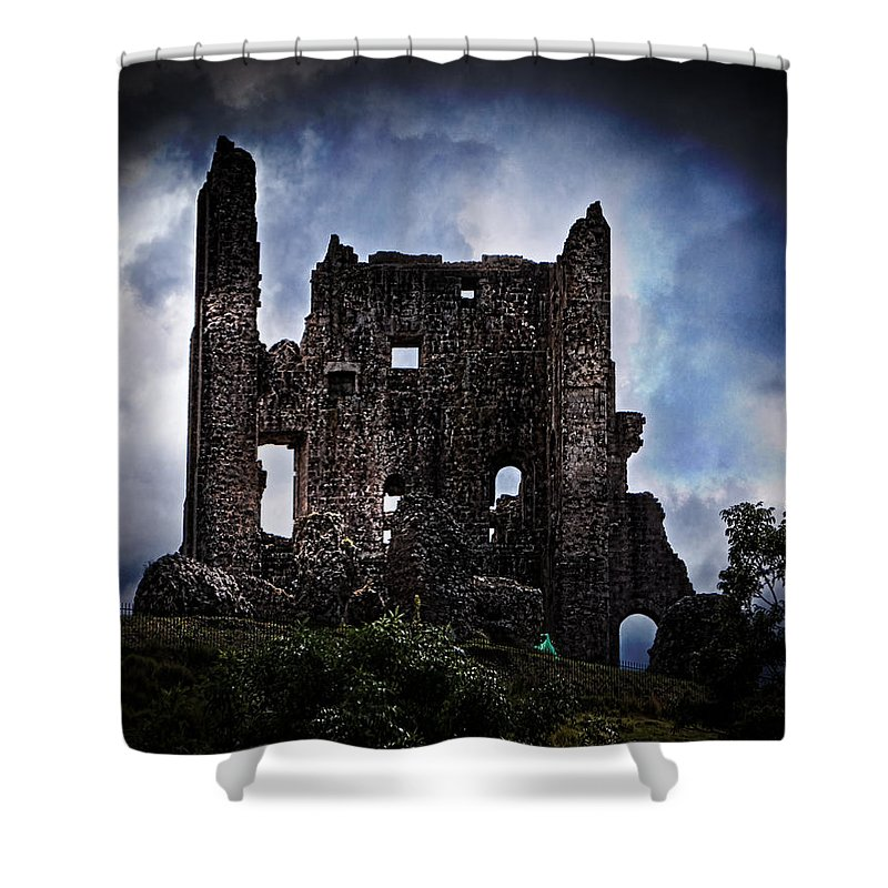 Keep Shower Curtain featuring the photograph The Dark Keep by Chris Lord