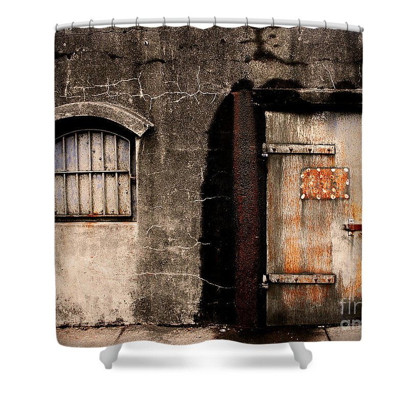 Door Shower Curtain featuring the photograph The Darkness by Tara Turner