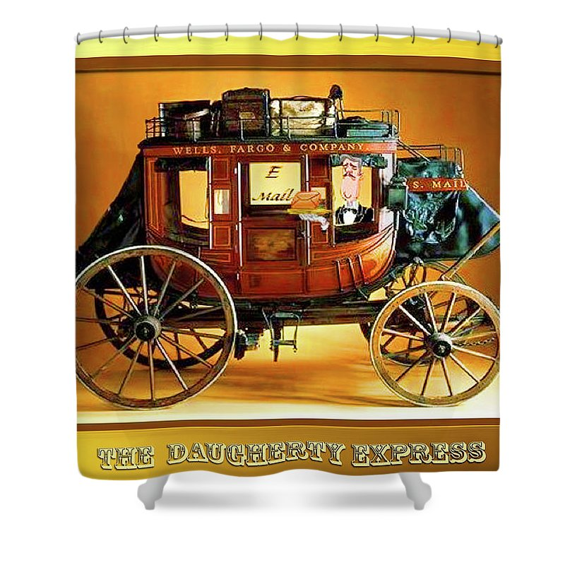 Travel Shower Curtain featuring the painting The Daugherty Express by CHAZ Daugherty