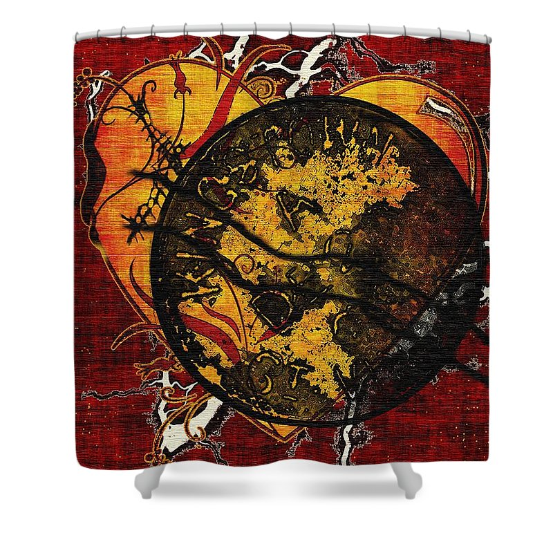 Abandonment Shower Curtain featuring the painting The Day You Left Me by RC DeWinter