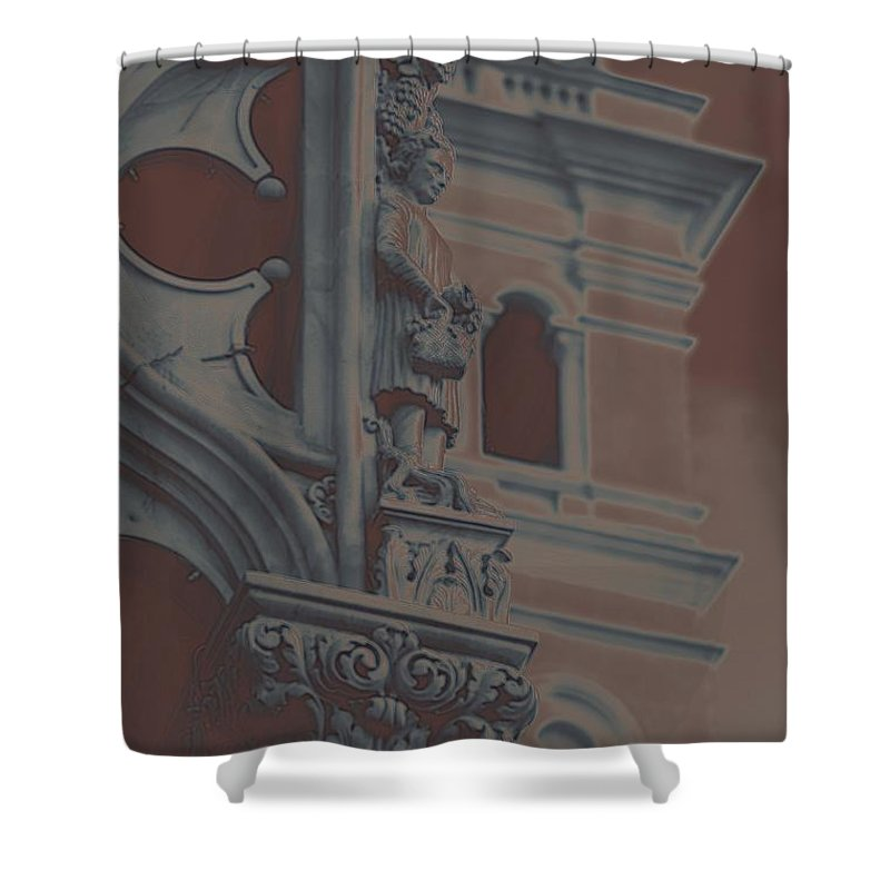 France Shower Curtain featuring the photograph The Depression by Robert Meanor