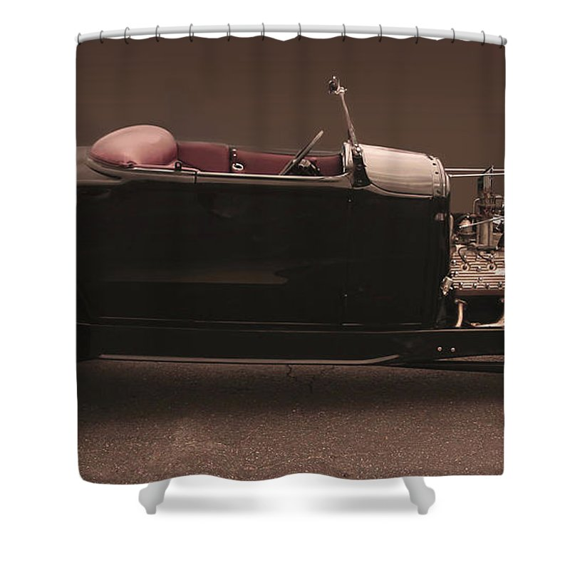 Deuce Shower Curtain featuring the photograph The Deuce by Curt Johnson