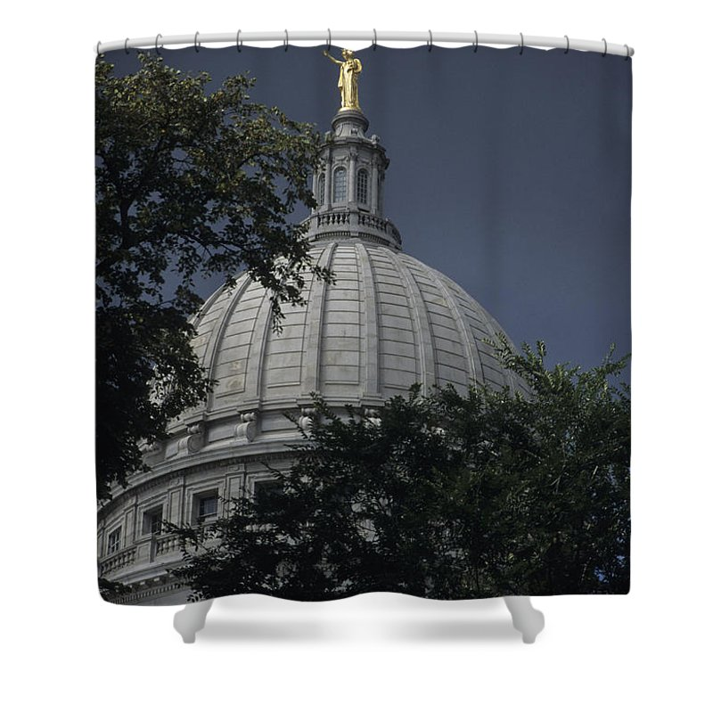 Washington Shower Curtain featuring the photograph The Dome Of The Capitol Building by Stacy Gold