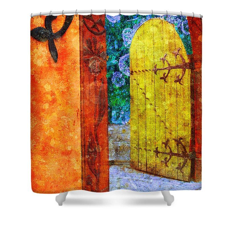 Door Shower Curtain featuring the photograph The Door Is Always Open by Tara Turner