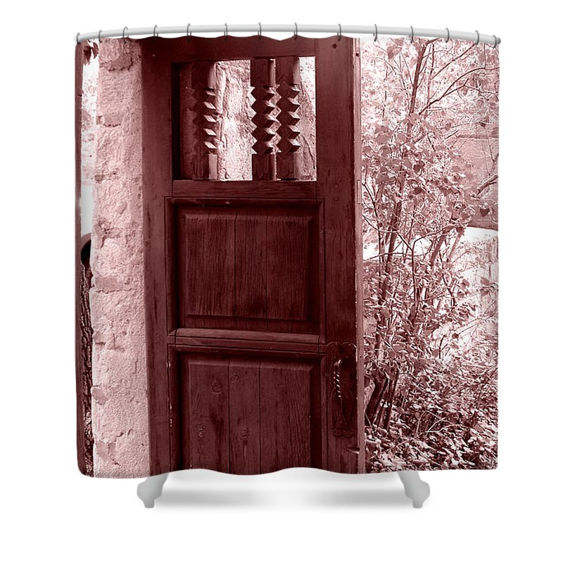 Door Shower Curtain featuring the photograph The Door by Wayne Potrafka