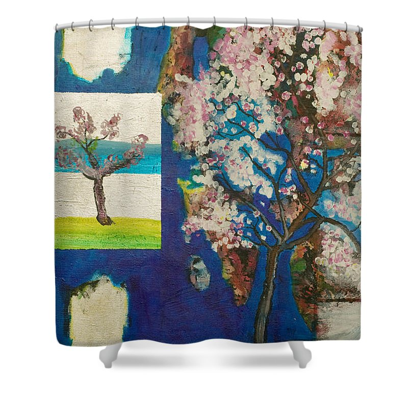 Shower Curtain featuring the painting The Dream by Jarle Rosseland