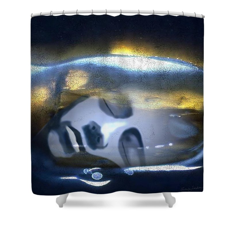 Dream Sky Universe Methaphysics Aura Afterlife Shower Curtain featuring the digital art The Dream by Veronica Jackson