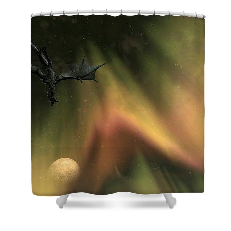The Elder Scrolls V Skyrim Shower Curtain Featuring Digital Art