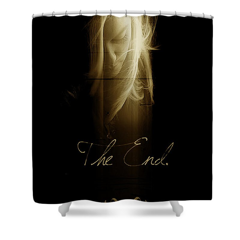 Abstract Dark Profile Of Morgan Shower Curtain featuring the photograph The End by Bill Munster