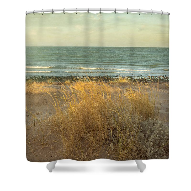 B=beach Shower Curtain featuring the photograph The End Of A Day by Leena Hannonen