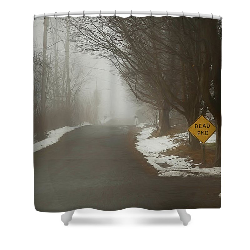 Winter Shower Curtain featuring the digital art The End Of Winter by Karl Fritz