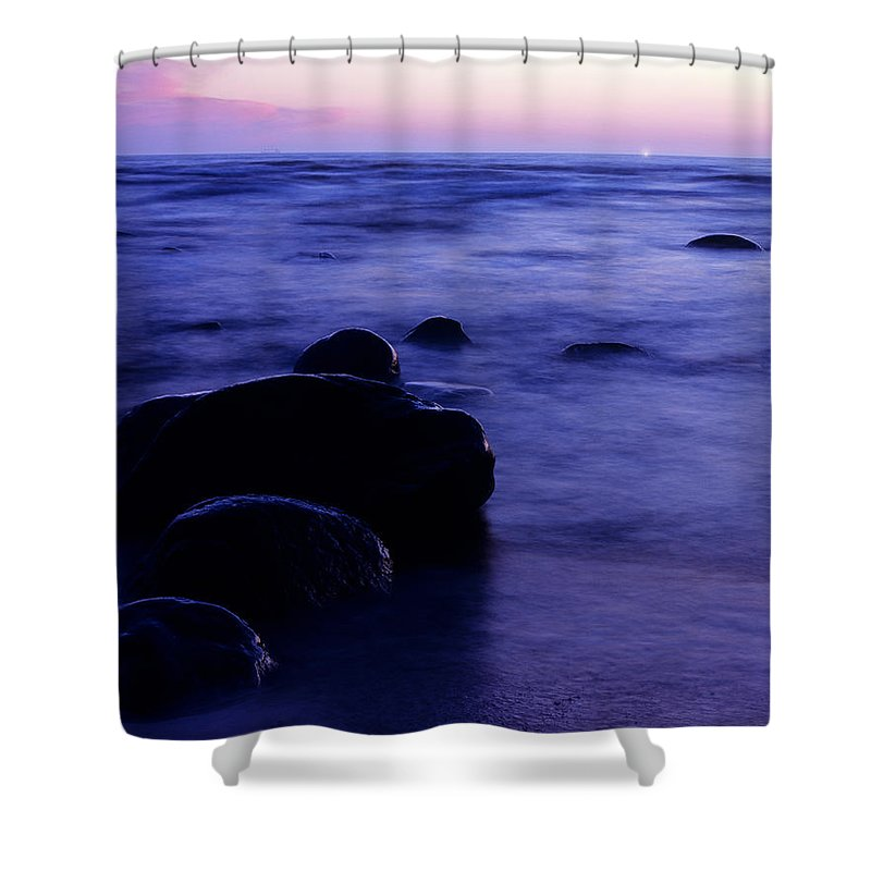 Abstract Shower Curtain featuring the photograph The Evening by Konstantin Dikovsky