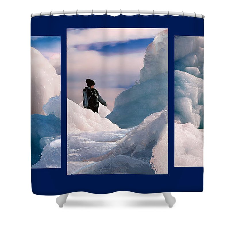 Landscape Shower Curtain featuring the photograph The Explorers by Steve Karol