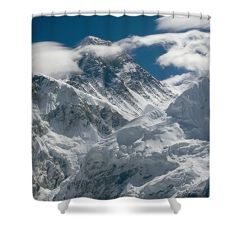Outdoors Shower Curtain featuring the photograph The Extreme Terrain Of Mount Everest by Michael Klesius