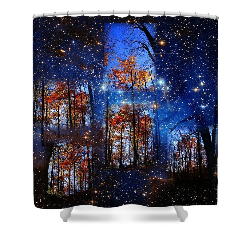 Deep Space Shower Curtain featuring the photograph The Face Of Forever by Dave Martsolf