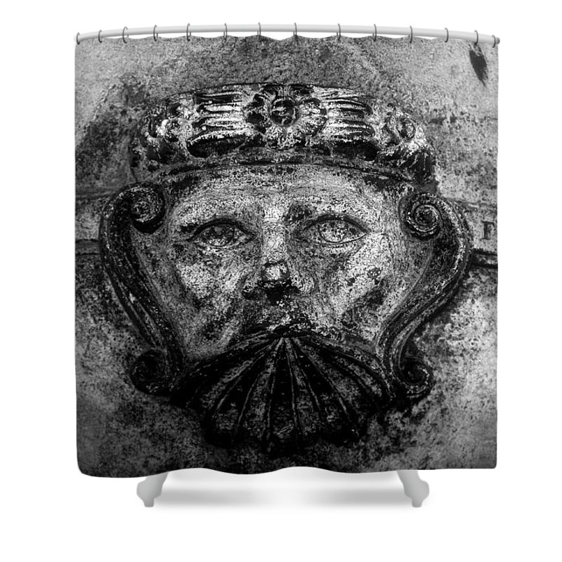 Face Shower Curtain featuring the photograph The Face Of War by David Lee Thompson