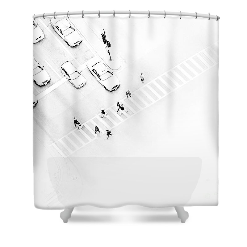 White Shower Curtain featuring the photograph The Faceless by Dana DiPasquale