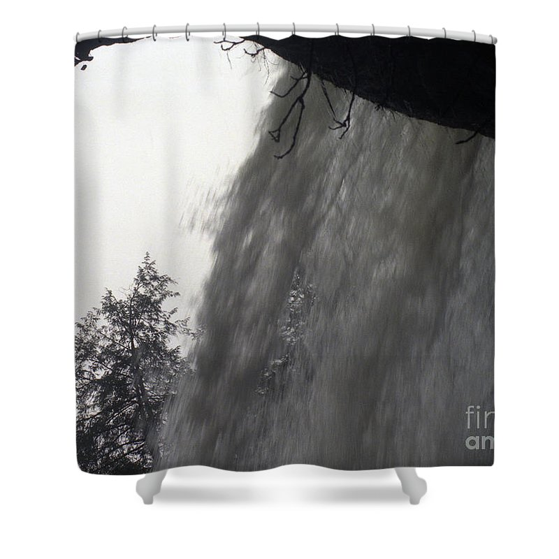 Waterfalls Shower Curtain featuring the photograph The Falls by Richard Rizzo