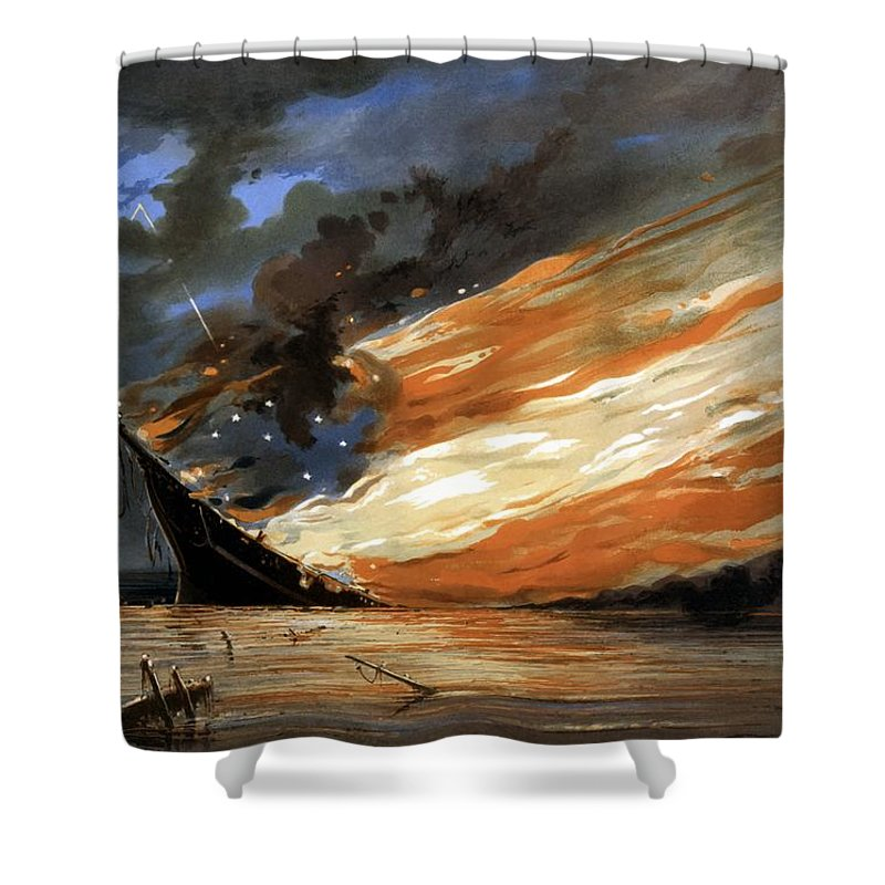 Warship Shower Curtains