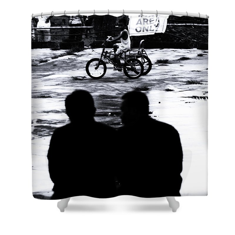 Cavite Shower Curtain featuring the photograph The Fathers by Jez C Self