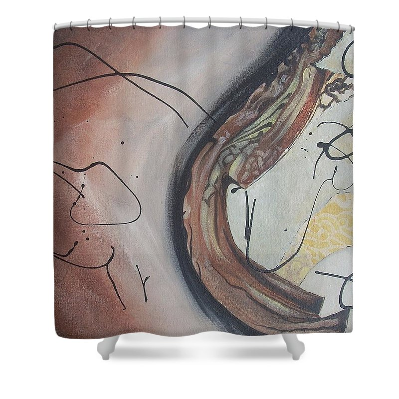 Fire Shower Curtain featuring the painting The Fire Inside by Hasaan Kirkland
