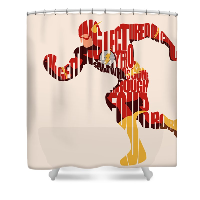 Flash Shower Curtain Featuring The Digital Art By Inspirowl Design
