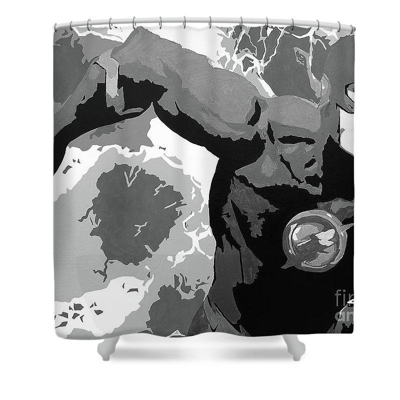 The Flash Shower Curtain Featuring Painting