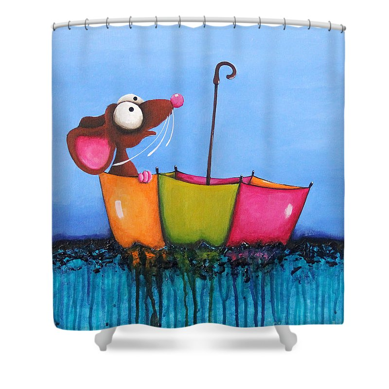 The Floating Umbrella Shower Curtain For Sale By Lucia Stewart