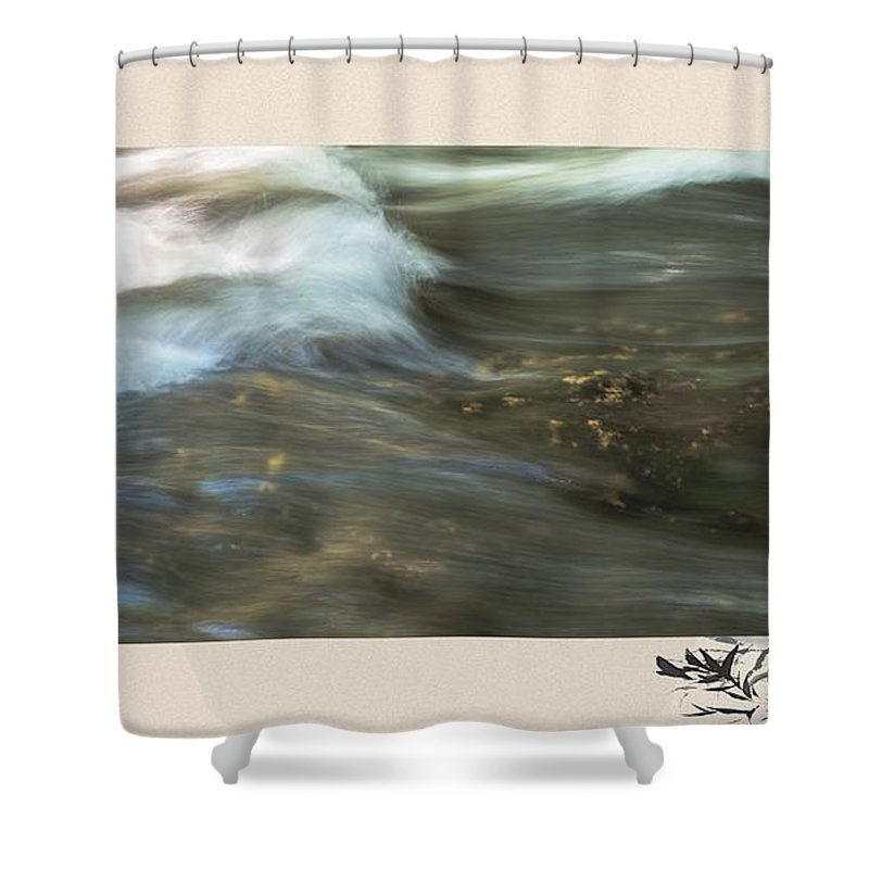 River Shower Curtain featuring the photograph The Flow by Sherman Perry