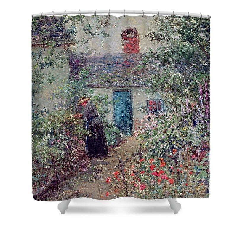 The Flower Garden Shower Curtain for Sale by Abbott Fuller Graves