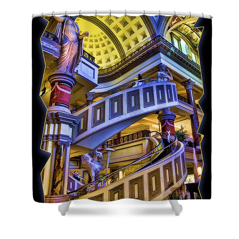 Caesars Shower Curtain featuring the photograph The Forum At Caesars by Ricky Barnard