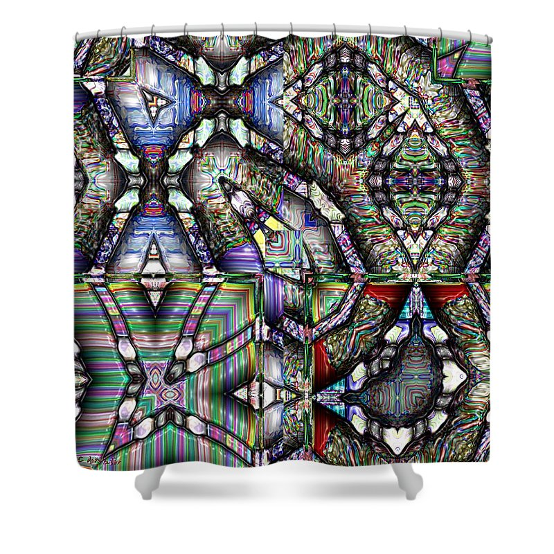 Abstract Shower Curtain featuring the painting The Four Horsemen Of The Apocalypse by RC DeWinter